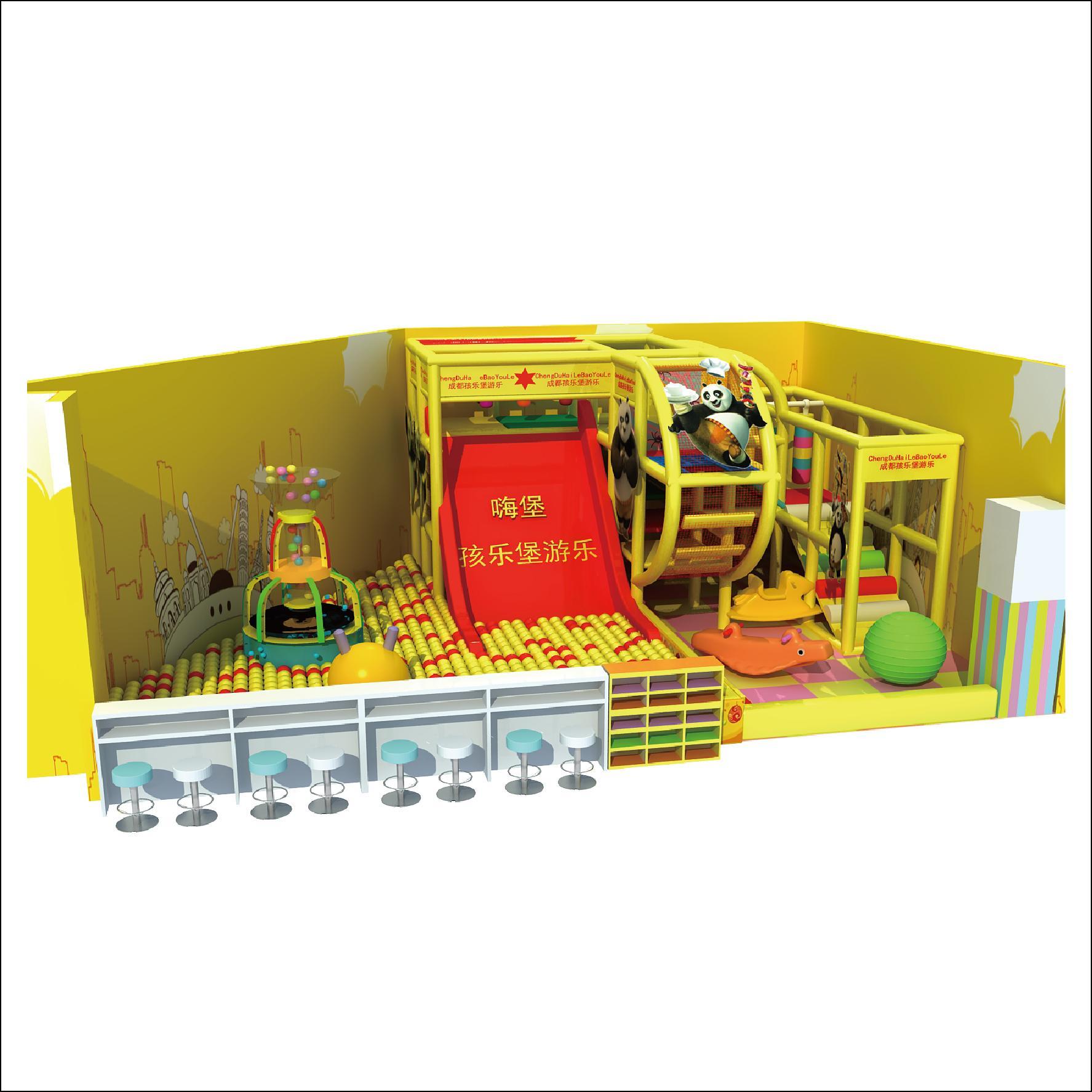 HLB-D1721 Children Playground Kids Indoor Playhouse 3