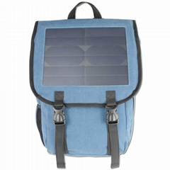Blue Portable Solar Back