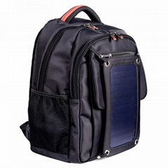 Black Solar Backpack