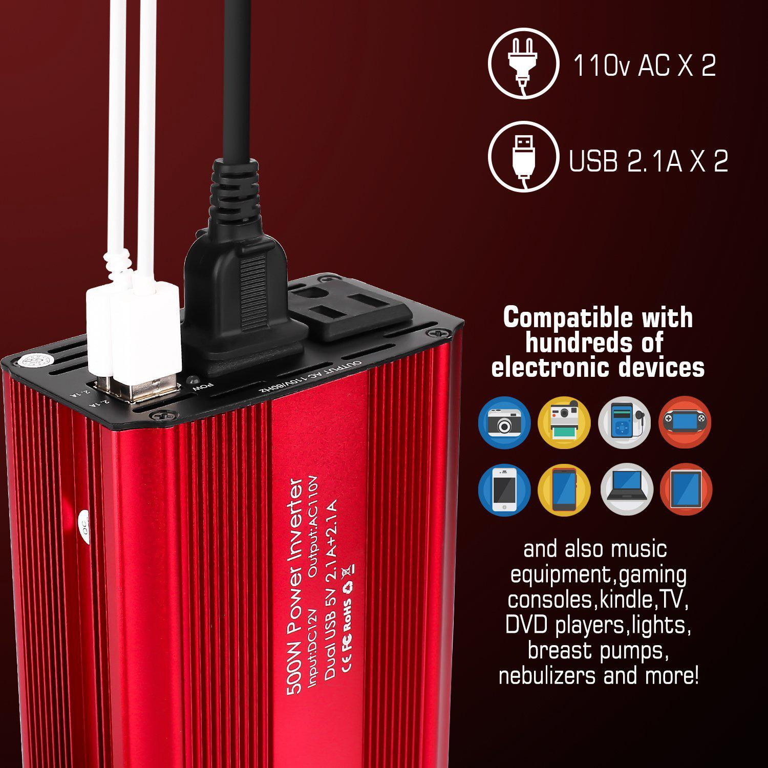 SUTUNG 500w Power Inverter 5