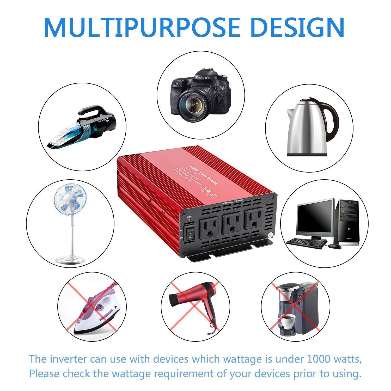 SUTUNG 1000w Power Inverter 5
