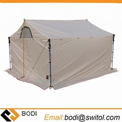 5-8 Person Camping Roof Tent 20d Silicone Single Layer Large Awning Outdoor