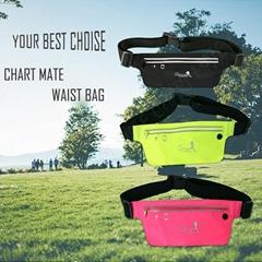 Out door sport elastic waterproof Lycra waist bag with earphone hole and zipper