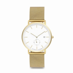 Fashion Alloy Gold Dw Style Gold Mesh Band Watch