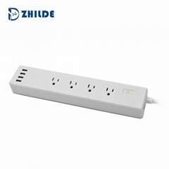Hot Selling Voice Remote Control  Extension Socket Outlet Smart Power strip