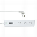 CN smart surge protector 3 AC outlets power socket 4-USB smart charging ports 1