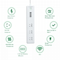 CN smart surge protector 3 AC outlets power socket 4-USB smart charging ports 2