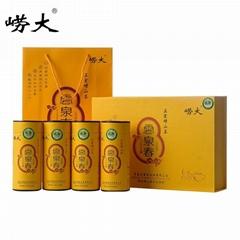 云泉春綠茶黃色彩盒普洱紅茶單從圓筒紙罐包裝