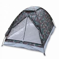 2 Person Camping Tent Rainfly Waterproof Hiking Outdoor Camouflage Single Layer