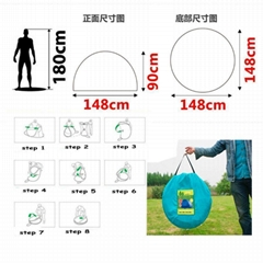 Outdoor Camping Hiking Tents Family Single Layer Pop Up Instant AutomaticTent