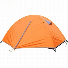 new Orange Windproof Waterproof Double-layer 2 Person Tent Camping Hiking