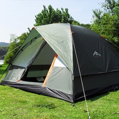 Outdoor Camping Tent Three Person Double Layer Fishing Hunting Picnic Adventure