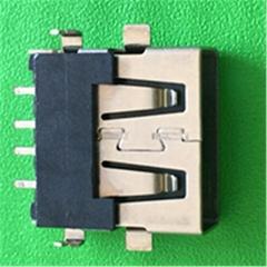 【电源插座】USB母座连接器插座短体10.0长厂家批发价