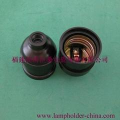 E26/27 black plastic lampholder cs225