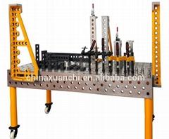 Welding table parts D28 steel U-shaped case 500x200x200 fixture welding machine