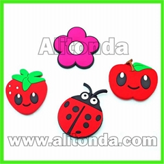 Fridge magnet customized cartoon food smiling face fruit fridge magnet supplier