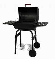 Barrel charcoal BBQ grill