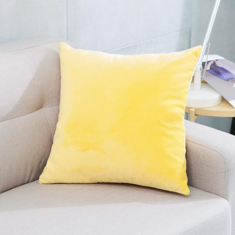 簡約現代毛絨純色抱枕車里辦公室腰枕沙發床上大靠背靠枕含芯定製 4