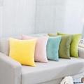 简约现代毛绒纯色抱枕车里办公室腰枕沙发床上大靠背靠枕含芯定制 3