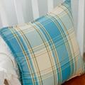 特價地中海清新抱枕棉麻加厚格子靠枕沙發靠墊汽車腰枕抱枕套含芯 4