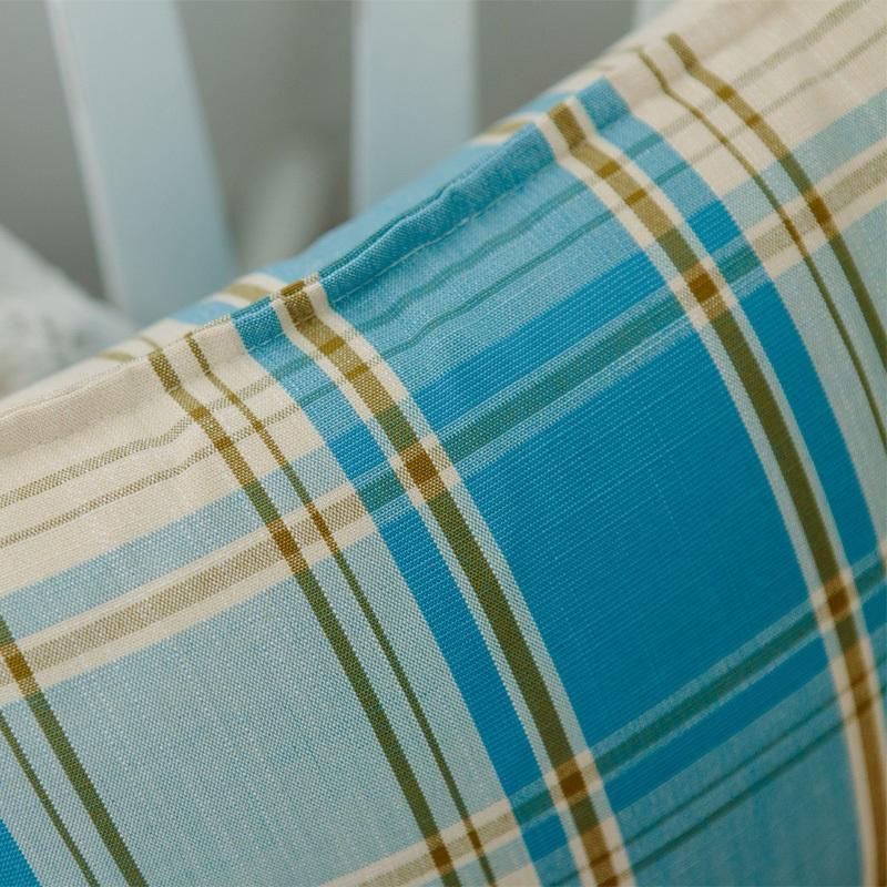 特价地中海清新抱枕棉麻加厚格子靠枕沙发靠垫汽车腰枕抱枕套含芯 5