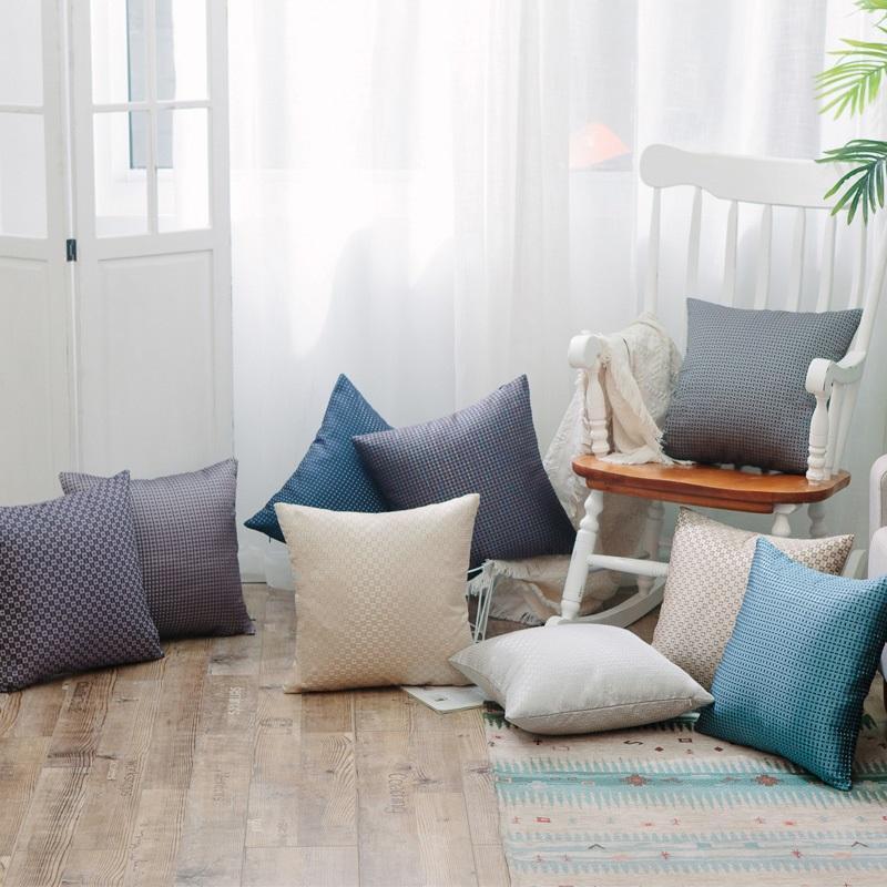 中式抱枕簡約現代紅木沙發床上靠枕車里辦公室腰枕含芯靠背墊套 1