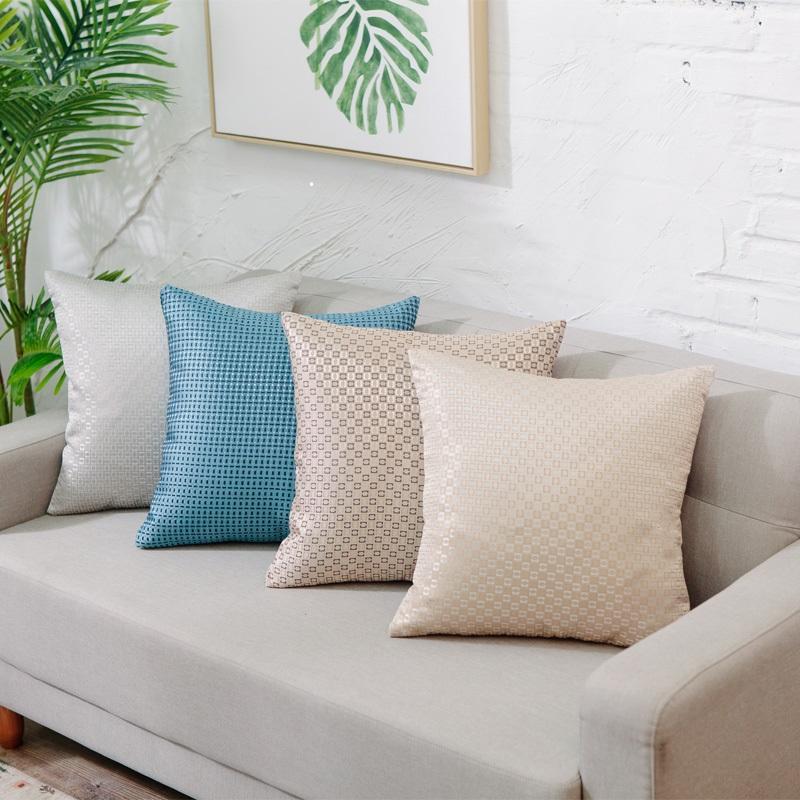 中式抱枕简约现代红木沙发床上靠枕车里办公室腰枕含芯靠背垫套 2