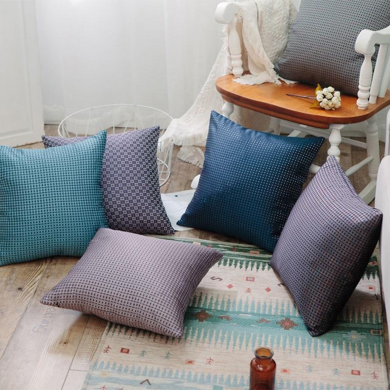 中式抱枕简约现代红木沙发床上靠枕车里办公室腰枕含芯靠背垫套 3