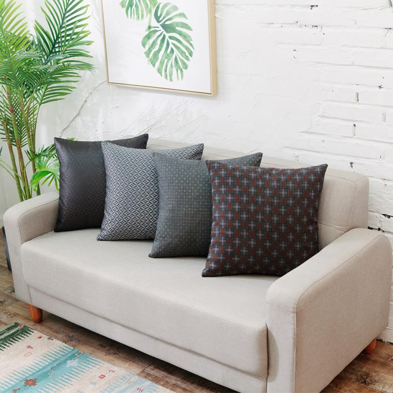 新款英倫風全滌錦綸絲抱枕汽車辦公室靠枕沙發床上靠墊含芯 2