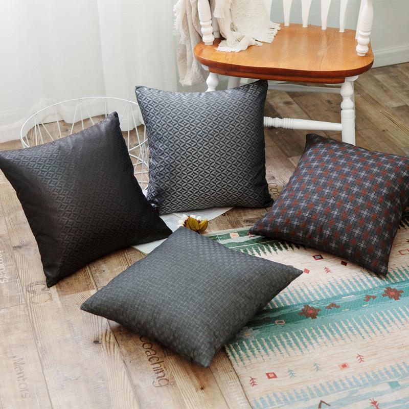 新款英倫風全滌錦綸絲抱枕汽車辦公室靠枕沙發床上靠墊含芯 4