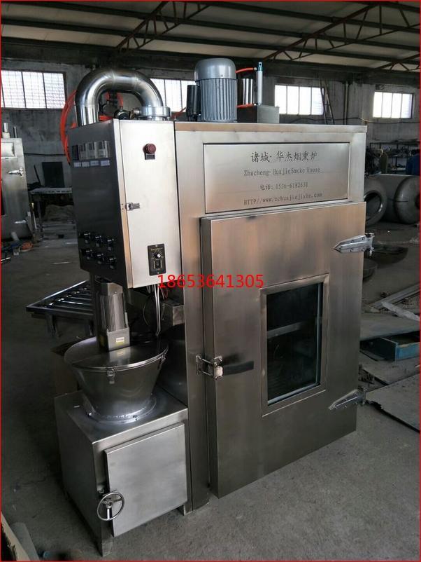 豆干烟熏炉生产厂家,电加热50kg豆干熏烤炉功能说明 2