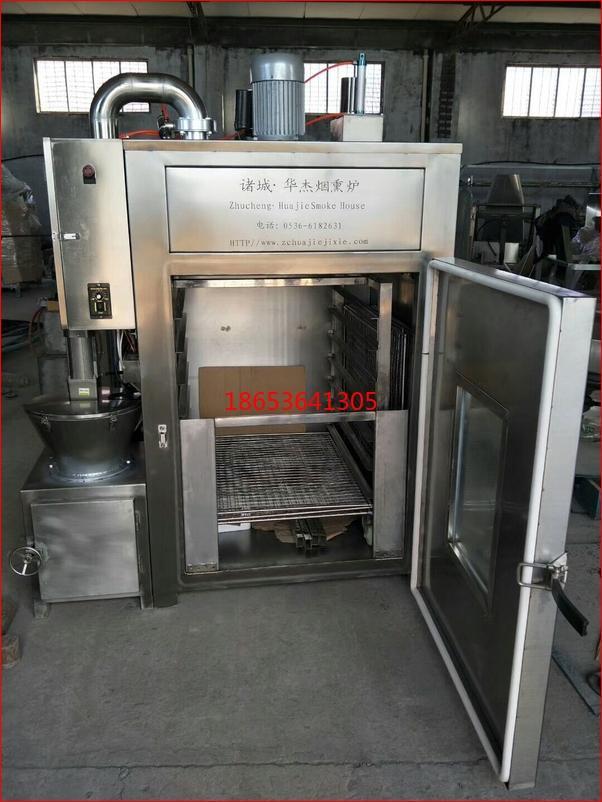 豆干烟熏炉生产厂家,电加热50kg豆干熏烤炉功能说明 5