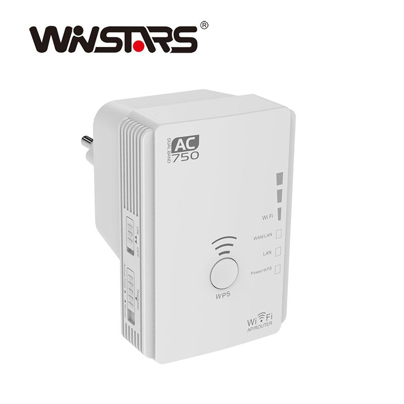 Factory Professional AC750 Dual Band Long Range Wireless Router Repeater AP 1