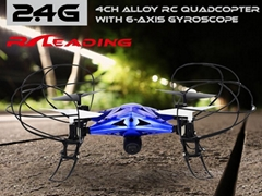 2.4G 4CH ALLOY RC Quadcopter with 6-axis gyroscope metal helicopter drones toys