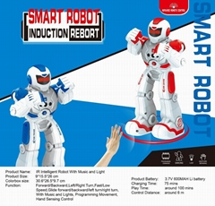 Smart Space Dance IR Intelligent Robot with music light hand sensing control toy