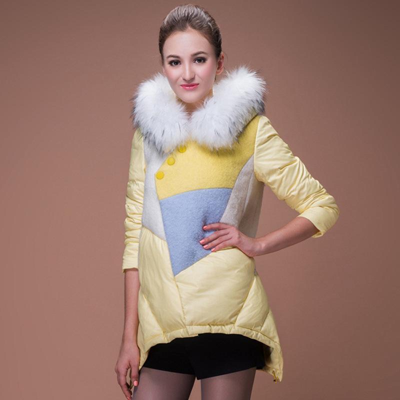 Fur collar women down jacket 2