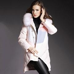 Fur collar women down jacket
