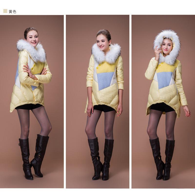 Fur collar women down jacket 4