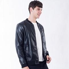 3 Colors Men Leather Jacket