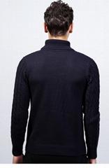 High-necked Men Base Sweater