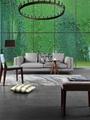 New Modern Design Grey Linen Fabric Soft Feather Furniture Living Room Sofa Set 2