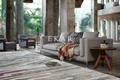 New Modern Design Grey Linen Fabric Soft Feather Furniture Living Room Sofa Set 3