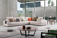 Italian Living Room Furniture Imported Hot Fabric Modern Design Sofa
