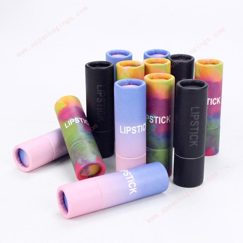 Custom mini eco packaging paper empty lip balm tube 2