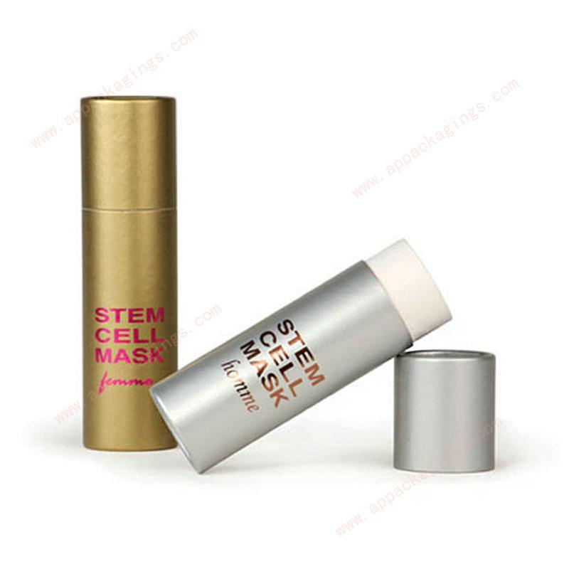 Custom mini eco packaging paper empty lip balm tube 4