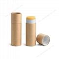 Custom mini eco packaging paper empty lip balm tube 5
