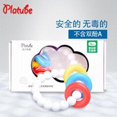 厂家批发 固齿咬胶手环益智婴儿玩具