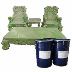 仿玉石傢具模具硅膠仿瑪瑙屏風茶几台盆AB膠縮合型液體硅膠