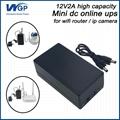 High capacity home storage power ups ip camera battery backup dc online ups