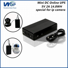 long warranty portable ups power supply 5v compact lithium ion mini ups for cctv